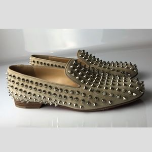 Christian Louboutin Rolling Spikes Loafers 37